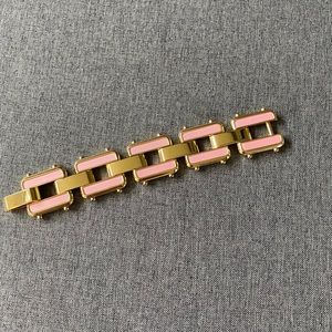 Gold & pink bracelet
